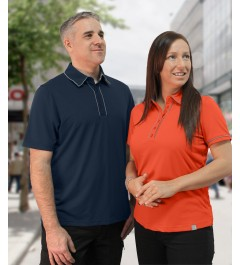 Mulligan - Polo with collar contrast piping